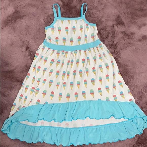 Girls 3T ice cream kickee pants dress 🍦